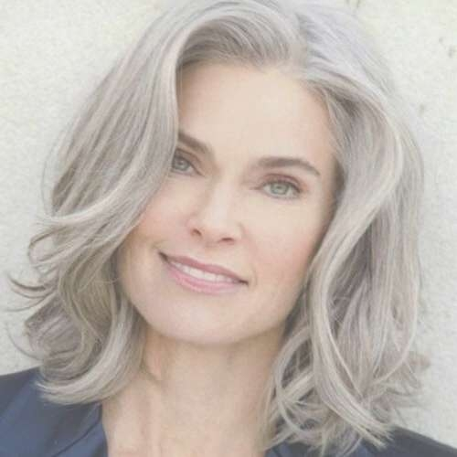 Photo Gallery of Medium Haircuts For Women In Their 50S (Showing 20 ...