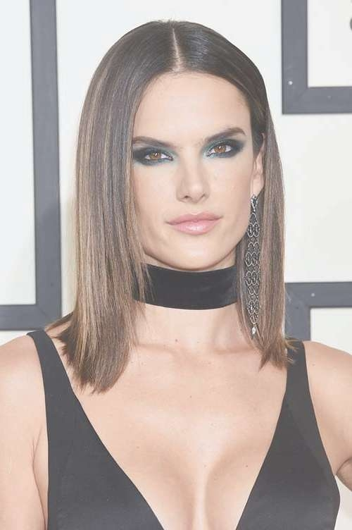 50 Stylish Ways To Wear Center Part Hairstyles | Fashionisers With Regard To Recent Center Part Medium Hairstyles (View 4 of 25)