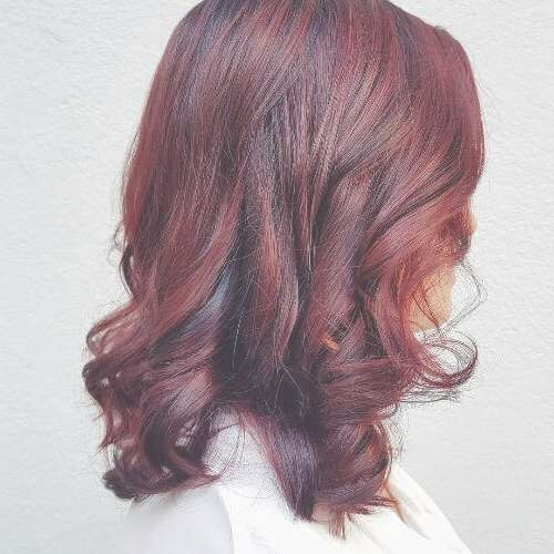 50 Vivid Burgundy Hair Color Ideas For This Fall | Hair Motive With Regard To Latest Burgundy Medium Hairstyles (View 9 of 15)