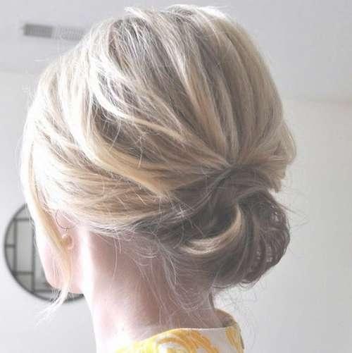 51 Easy Updos For Short Hair To Do Yourself Regarding Bob Hair Updo (View 4 of 25)