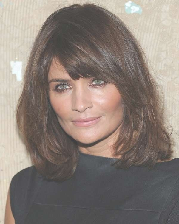 View Photos of Medium Haircuts For Thick Hair With Bangs (Showing 22 ...