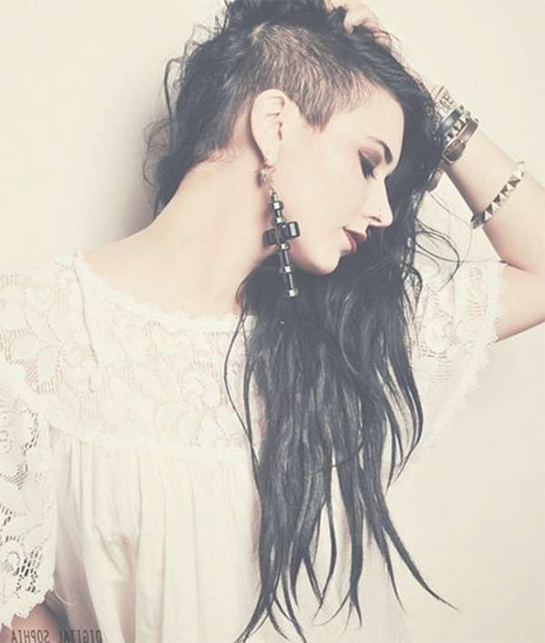 52 Of The Best Shaved Side Hairstyles With Regard To Current Half Shaved Medium Hairstyles (View 24 of 25)
