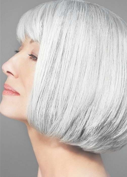 53 Best Mature | Sophisticated Hairstyles Images On Pinterest Pertaining To Most Recent Medium Haircuts For Women With Grey Hair (View 19 of 25)