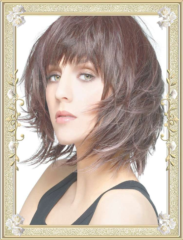 55 Medium Hairstyles With Bangs In 2017 | Right Bang For Face Shape With Regard To Latest Medium Hairstyles For Women With Bangs (View 14 of 25)