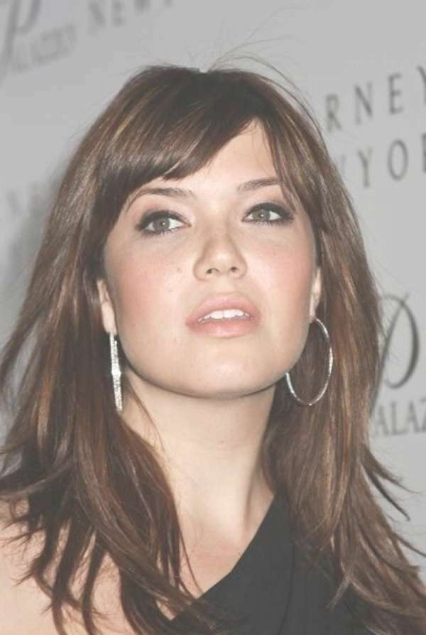 56 Fabulous Hairstyles For Women With Round Face Shape Regarding Most Popular Medium Hairstyles For Round Faces With Bangs (View 25 of 25)