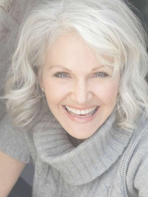 60 Gorgeous Gray Hair Styles | Mid Length Hair, Medium Hairstyle Regarding Most Up To Date Medium Hairstyles For Women With Gray Hair (View 4 of 15)