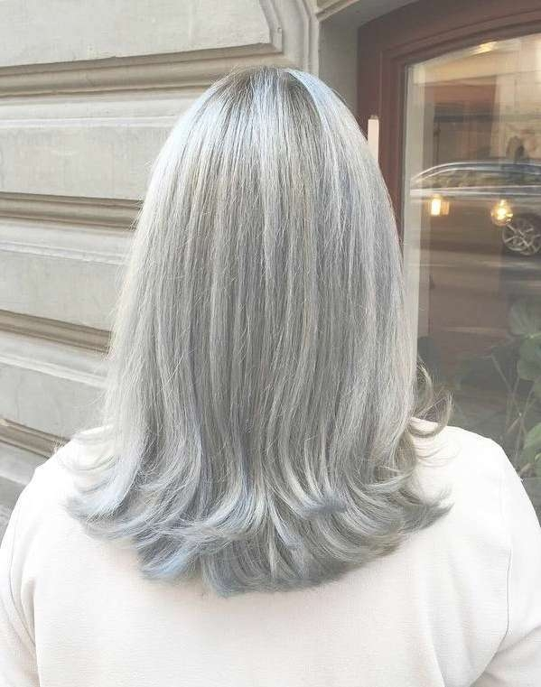 60 Gorgeous Hairstyles For Gray Hair With Regard To Most Popular Medium Hairstyles For Grey Haired Woman (View 17 of 25)