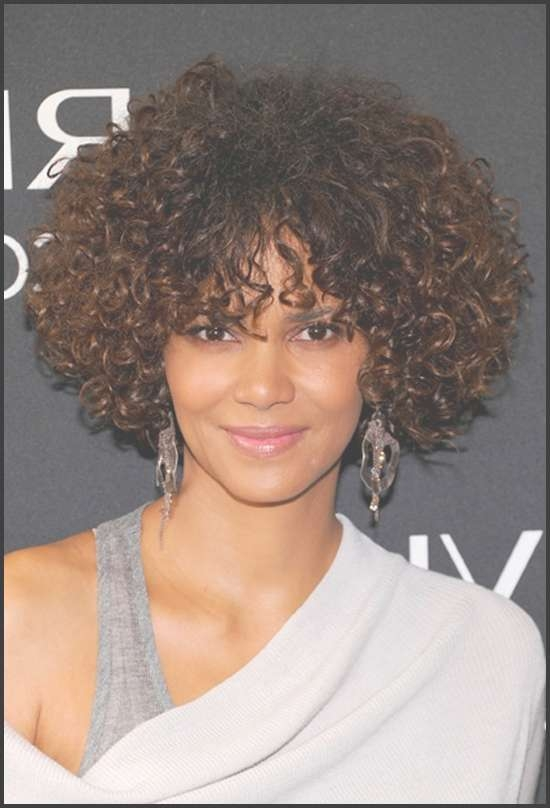 60 Short Curly Hairstyles For Black Woman – Stylishwife Regarding Latest Medium Haircuts For Black Curly Hair (View 19 of 25)