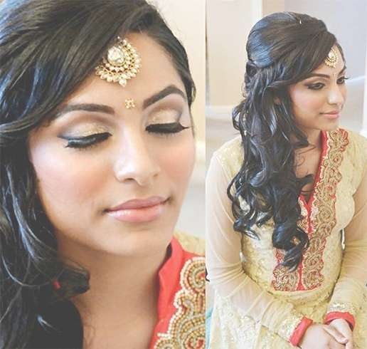 60+ Traditional Indian Bridal Hairstyles For Your Wedding Regarding Most Recent Medium Hairstyles For Indian Wedding (View 5 of 15)