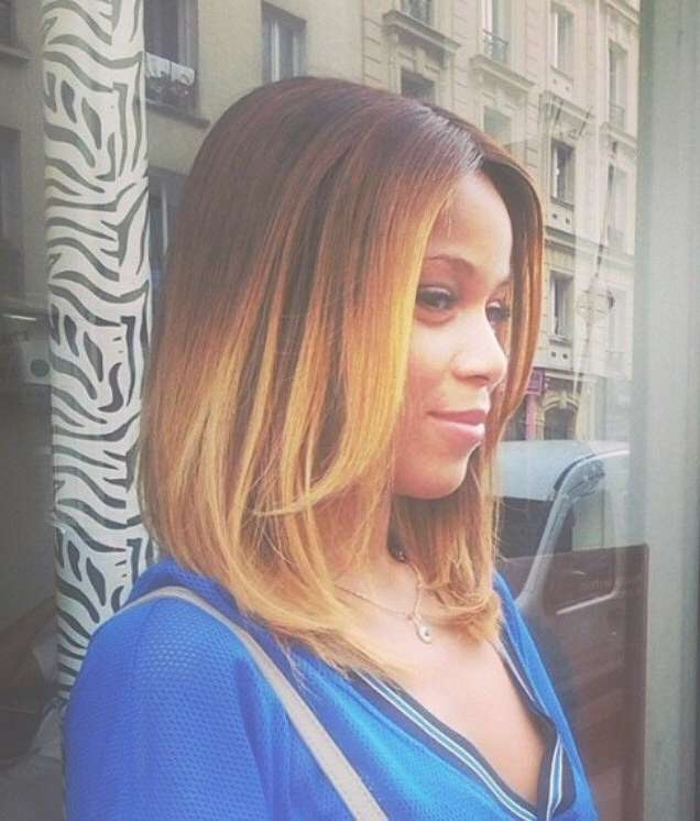 60 Trendy Ombre Hairstyles 2018 – Brunette, Blue, Red, Purple For Most Popular Medium Hairstyles With Color For Black Women (View 7 of 15)