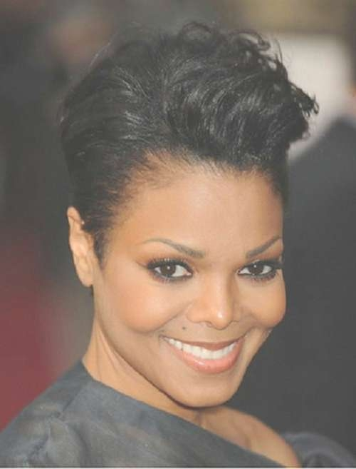 62 Best Short Hair Colors Images On Pinterest | Hair Cut, Layered Regarding Newest Medium Haircuts For African American Women With Round Faces (View 16 of 25)