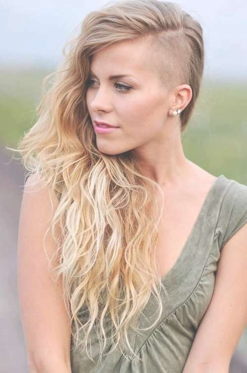 66 Shaved Hairstyles For Women That Turn Heads Everywhere Pertaining To Most Up To Date Medium Hairstyles With Shaved Sides For Women (View 8 of 15)