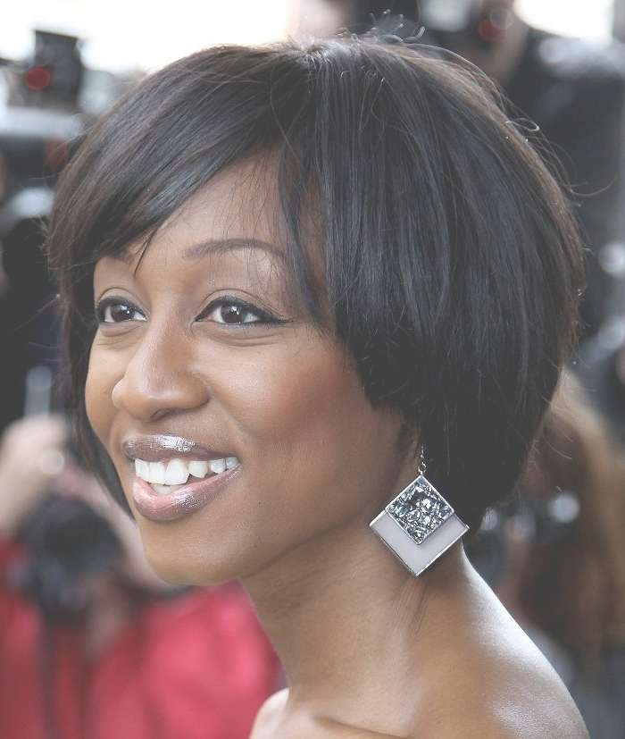 7 Best Short Hair Cuts Images On Pinterest | Black Women Intended For Most Recently Medium Hairstyles For Round Faces African American (View 12 of 15)