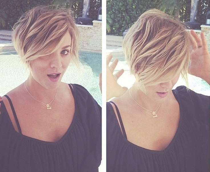 7 Stylish Messy Hairstyles For Short Hair – Popular Haircuts Inside 2018 Dramatic Medium Hairstyles (View 12 of 15)