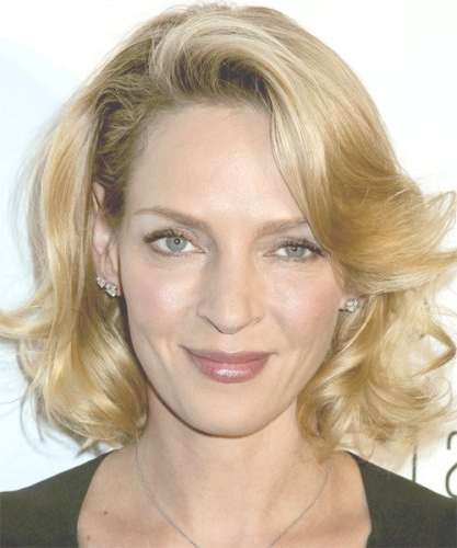 7 Uma Thurman Hairstyles (Short, Blonde & Updos) Page 1 Of 1 Regarding Uma Thurman Bob Haircuts (View 12 of 25)