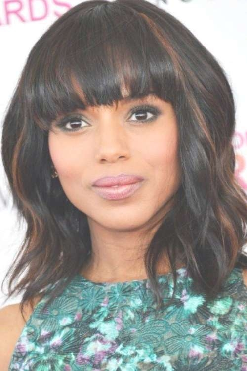 70 Artistic Medium Length Layered Hairstyles To Try Within Current Black Medium Hairstyles With Bangs And Layers (View 9 of 25)