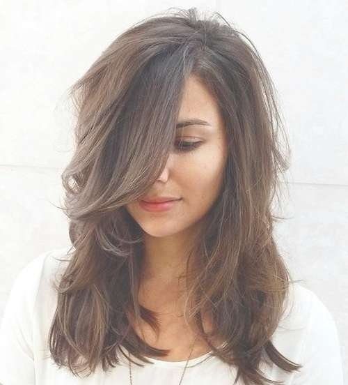 70 Brightest Medium Length Layered Haircuts And Hairstyles For Most Popular Medium Hairstyles With Long Bangs (View 11 of 25)