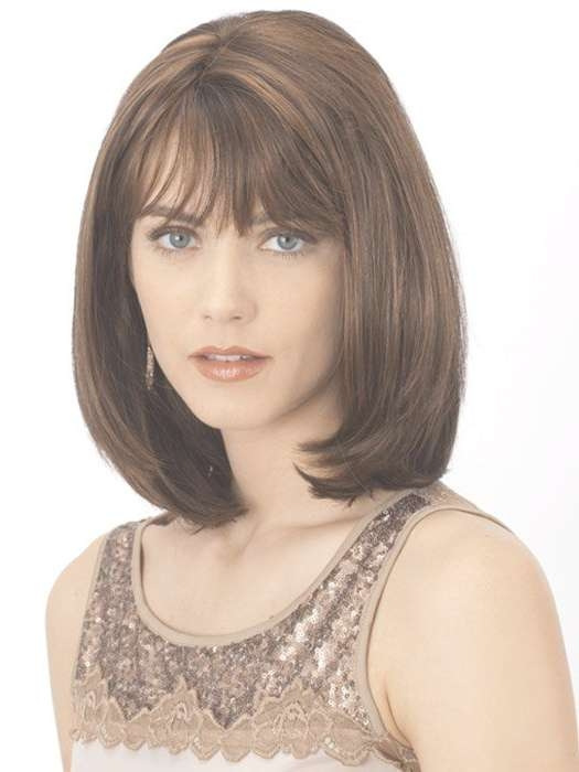 71 Best Hair Images On Pinterest | Layered Hairstyles, Make Up In Latest Medium Haircuts With Bangs For Fine Hair (View 11 of 25)