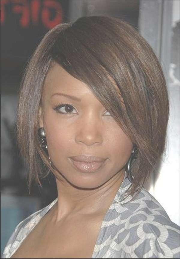 72 Short Hairstyles For Black Women With Images [2018 Regarding Most Up To Date Medium Haircuts For Round Faces African American (View 9 of 25)
