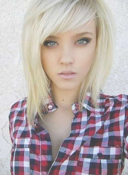 75 Cute & Cool Hairstyles For Girls – For Short, Long & Medium Hair Within Most Popular Medium Haircuts With Fringe (View 19 of 25)