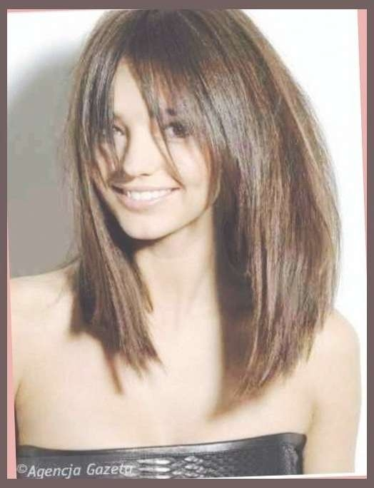 80 Best Bob Cuts/straight Bangs Images On Pinterest | Bobs, Hair Pertaining To Latest Medium Haircuts With Long Fringe (Gallery 18 of 25)
