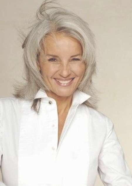 80 Best Going Gray Images On Pinterest | Grey Hair, Silver Hair For 2018 Medium Hairstyles For Gray Hair (Gallery 11 of 25)