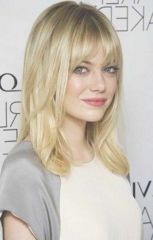 80 Sensational Medium Length Haircuts For Thick Hair   Compliments Intended For Most Recently Medium Haircuts With Bangs For Round Face (View 4 of 25)