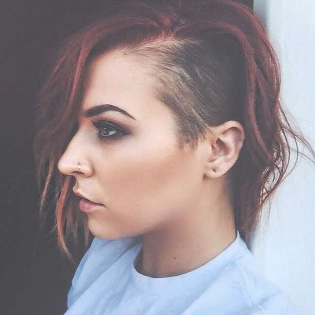 82 Best Undercut Images On Pinterest | Colourful Hair, Hair Colors Intended For Most Current Half Shaved Medium Hairstyles (View 7 of 25)