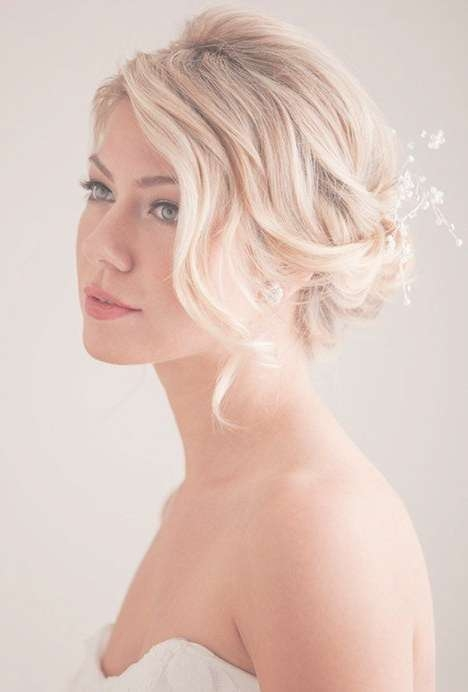 84 Best Wedding Hair Images On Pinterest | Bridal Hairstyles For Most Popular Medium Hairstyles Bridesmaids (Gallery 7 of 25)