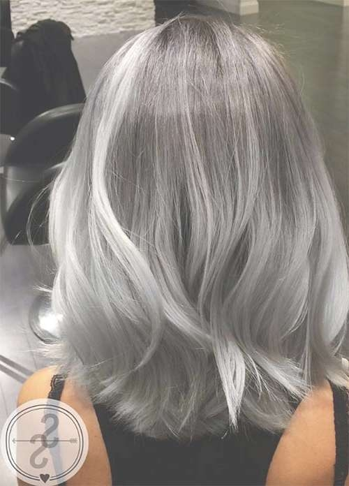85 Silver Hair Color Ideas And Tips For Dyeing, Maintaining Your Pertaining To Most Recent Gray Medium Hairstyles (Gallery 15 of 15)