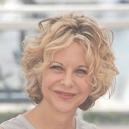 9 Best Curly Hair Meg Images On Pinterest | Meg Ryan Hairstyles Pertaining To Most Current Medium Haircuts That Make You Look Younger (View 25 of 25)