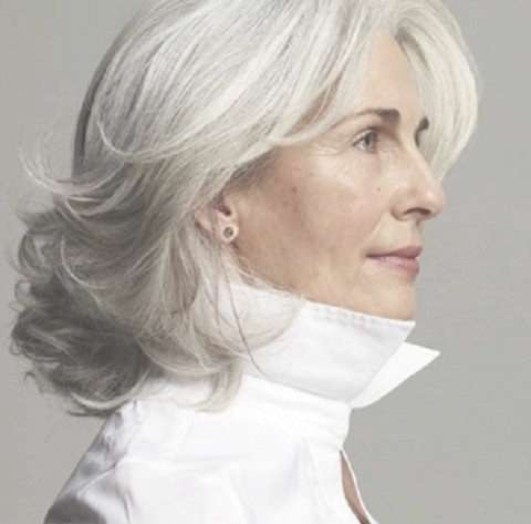 9 Best Masking Gray Hair Images On Pinterest | Short Cuts, Gray Regarding Current Medium Haircuts For Women With Grey Hair (View 15 of 25)
