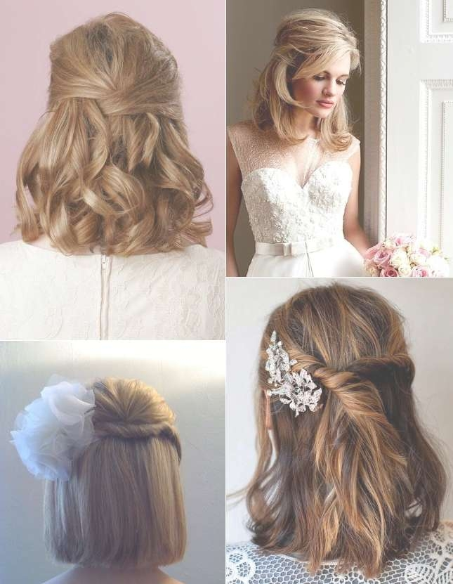 9 Short Wedding Hairstyles For Brides With Short Hair | Confetti (View 16 of 25)