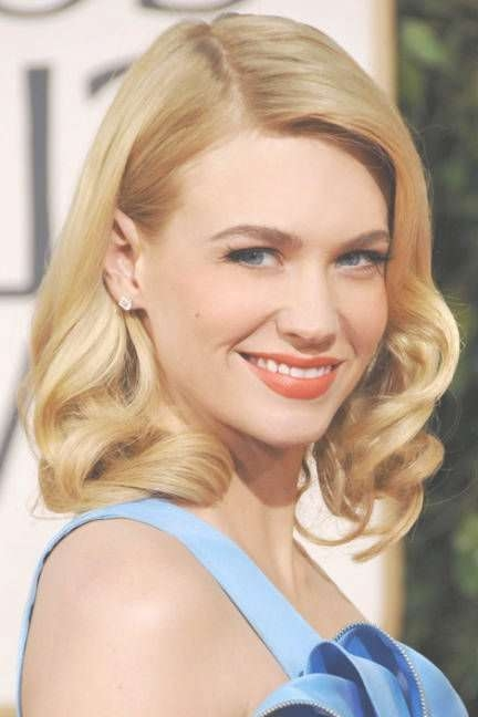 93 Best January Jones Images On Pinterest | Golden Globes, January Intended For Most Up To Date Old Hollywood Medium Hairstyles (View 6 of 25)