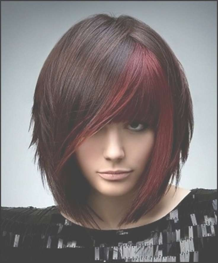 97 Best Colored Hair Images On Pinterest | Colourful Hair, Hair For Most Recent Medium Hairstyles With Red Highlights (View 4 of 15)