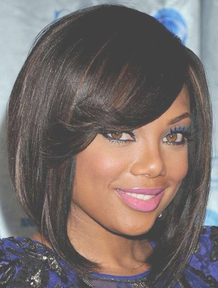 African American Hairstyles With Bangs And Layers – African Inside Most Up To Date Black Medium Hairstyles With Bangs And Layers (View 12 of 25)