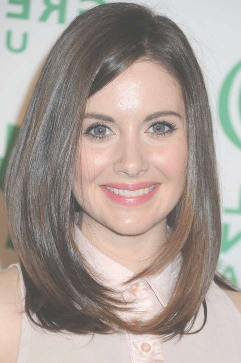 Alison Brie Long Hairstyle: Face Framing Hair – Pretty Designs With Most Recent Medium Hairstyles That Frame The Face (View 2 of 25)