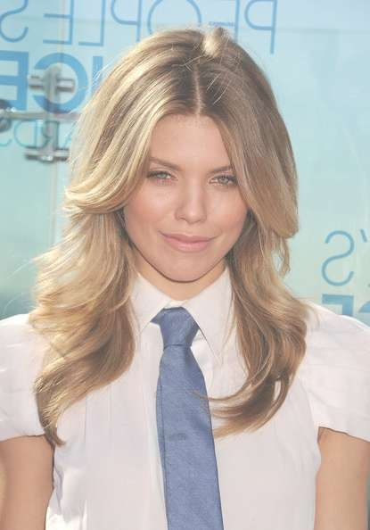 Annalynne Mccord Showcases Shoulder Length Layered Cut – Celebrity With Newest Medium Haircuts For Studs (View 10 of 25)