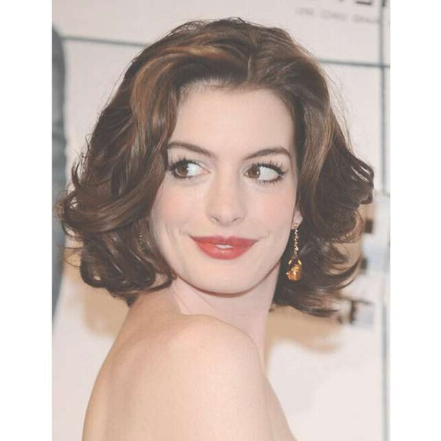 Anne Hathaway Wavy Hairstyle Sexy Products Lace Front Hu Man Hair Regarding Most Recently