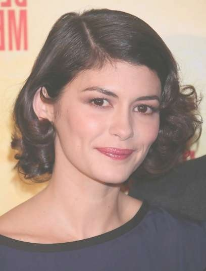 Audrey Tautou Elegant Short Haircuts For Loose Curly Hair Regarding 2018 Audrey Tautou Medium Haircuts (View 4 of 25)
