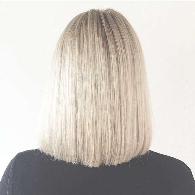 Back View Of Straight Long Bob Lob Hairstyle – Pretty Designs For Straight Long Bob Hairstyles (View 13 of 25)