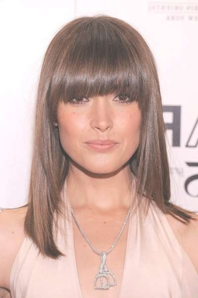 Bang Haircuts With An Oval Face – Hair World Magazine Inside Best And Newest Medium Hairstyles With Bangs For Oval Faces (View 9 of 25)