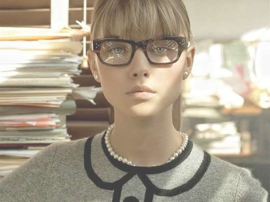 Bangs And Glasses Hairstyle Ideas – Hair World Magazine In Recent Medium Haircuts With Bangs And Glasses (View 9 of 25)