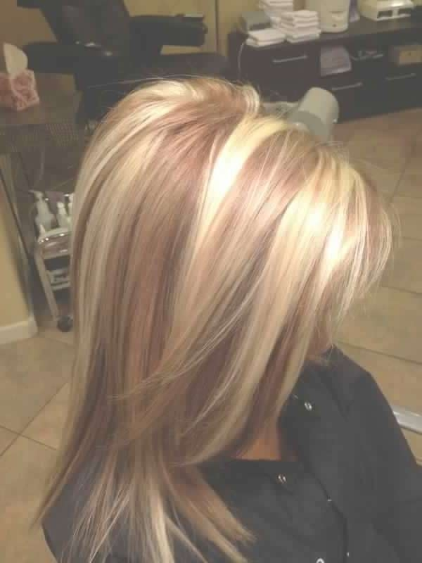 Beautiful Golden Blonde Hair With Reddish Caramel Or Toffee Pertaining To Latest Medium Haircuts With Red And Blonde Highlights (View 12 of 25)
