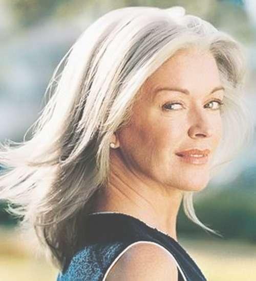 Beautiful Gray Hair Cuts – Hair World Magazine Within 2018 Medium Haircuts For Coarse Gray Hair (View 7 of 25)
