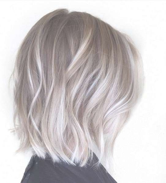 Best 25 Ash Blonde Short Hair Ideas On Pinterest Bob Within Newest