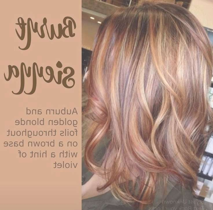 Best 25+ Auburn Hair Colors Ideas On Pinterest | Auburn Brown Hair Pertaining To Recent Medium Haircuts With Red And Blonde Highlights (View 25 of 25)