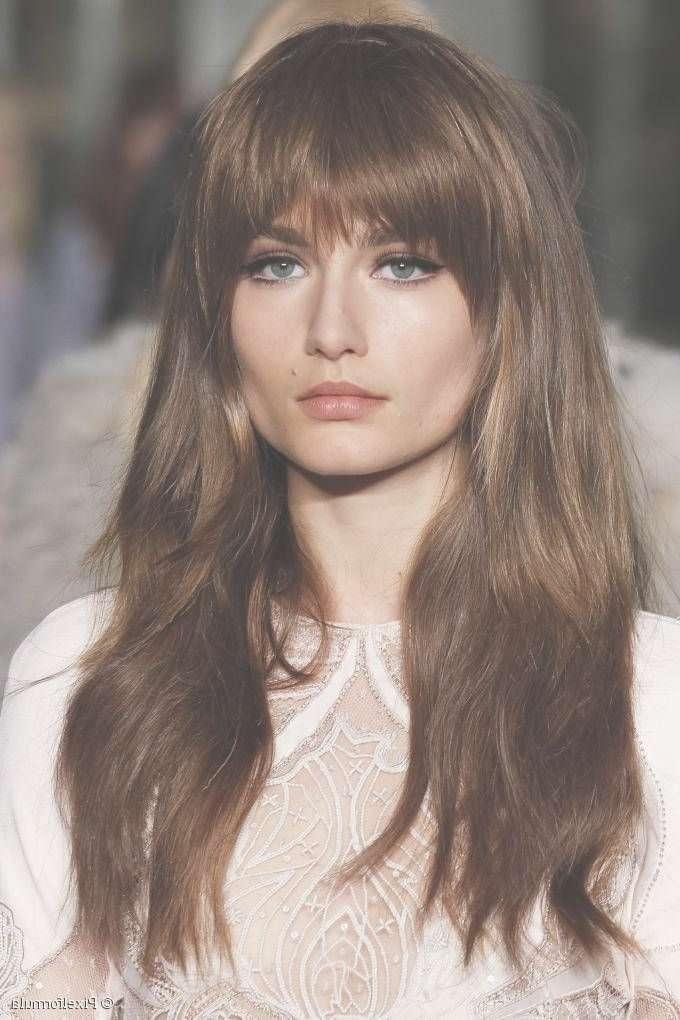 Best 25+ Bangs For Long Hair Ideas On Pinterest | Side Bangs With Pertaining To Most Current Long Hairstyle With Fringe (View 3 of 25)
