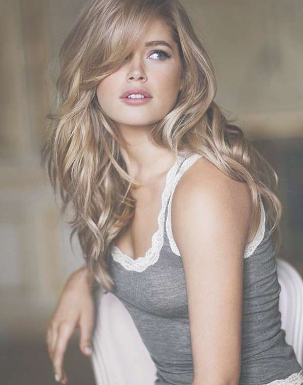 25 Collection Of Long Bangs Hairstyles Long Hair