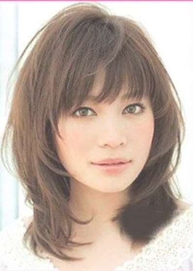 25 Collection of Medium Haircuts With Bangs For Fine Hair